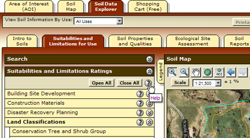 Help For The Inner Tabs Such As The Suitabilities And Limitations For Use Tab