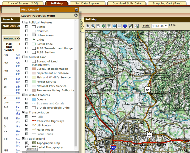 Web Soil Survey New Features - Us forest service topo maps